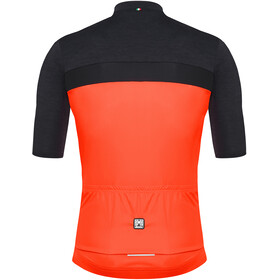 Santini Stile Kortärmad cykeltröja Herr orange/svart